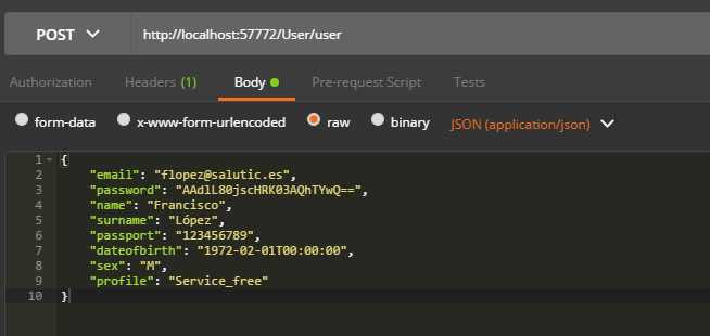 How to pass JSON in Cache Rest Services using Postman