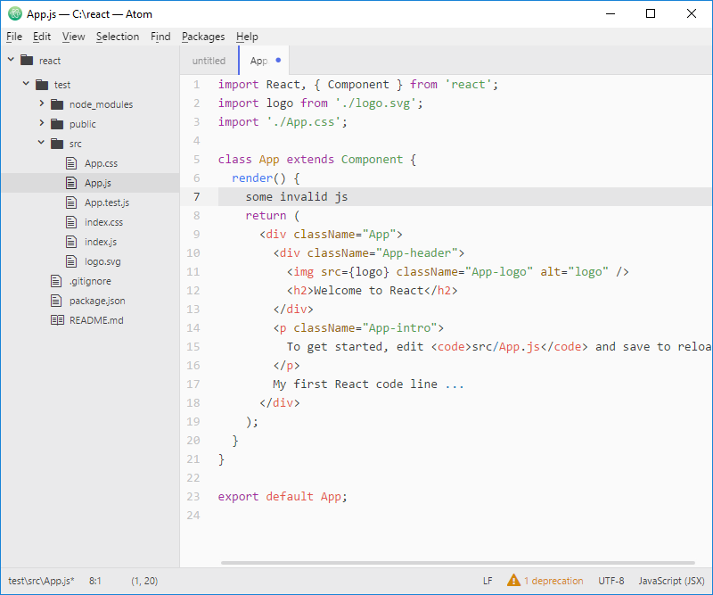 Node js: create a basic web app with React - part 1