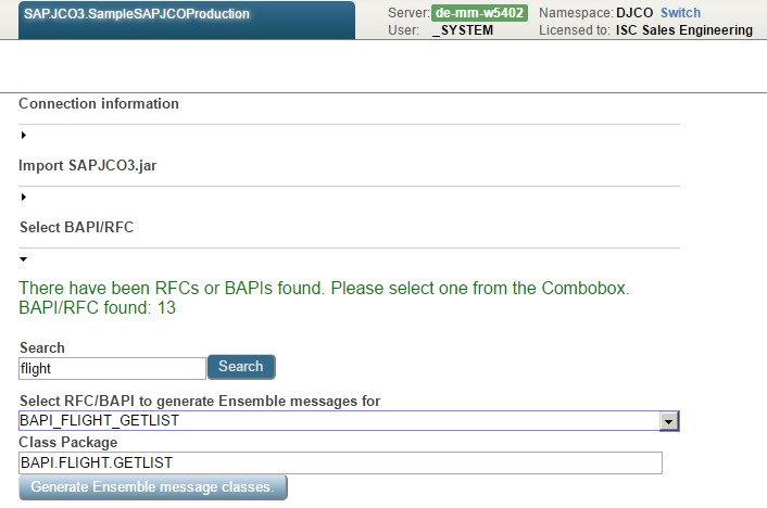 Follow up #1 SAPJCo3: How to generate BAPI/RFC messages