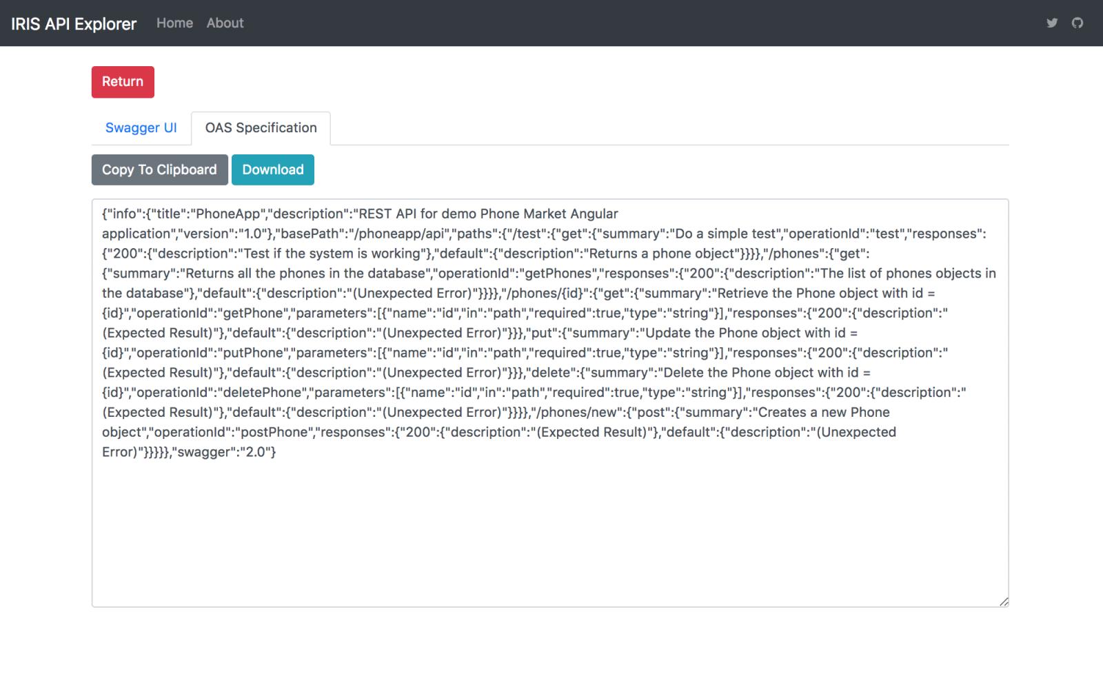 IRIS API Explorer Application | InterSystems Developer