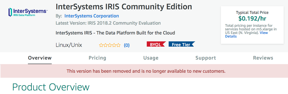 Free IRIS Community Edition in AWS | InterSystems Developer Community |