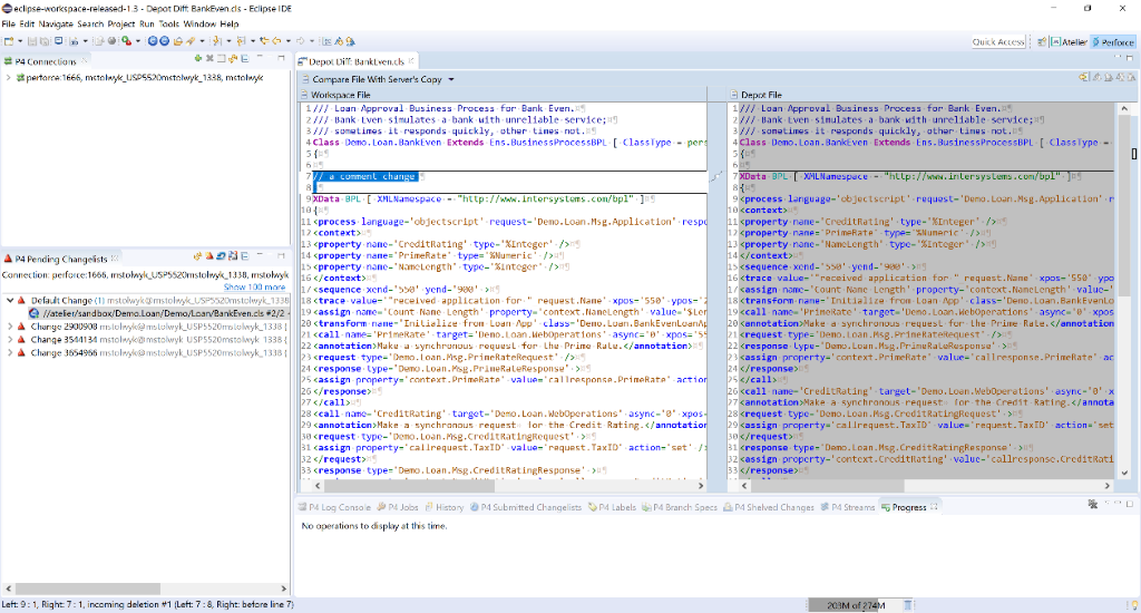 Perforce Example of Shared Development with Atelier | InterSystems