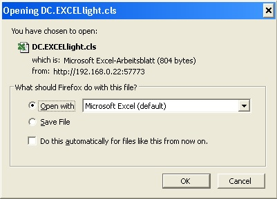 Light weight EXCEL download | InterSystems Developer Community | Caché |
