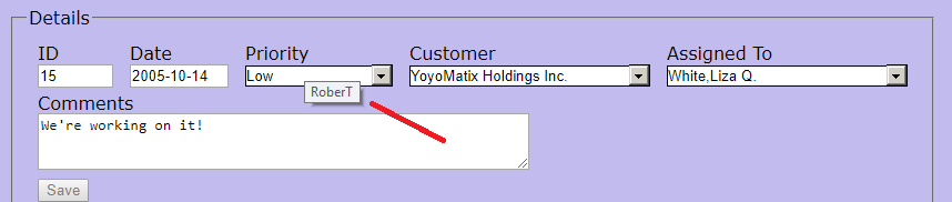 Display selected value from drop down list box | InterSystems Developer